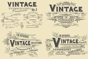 Vintage Typography Ornaments v2