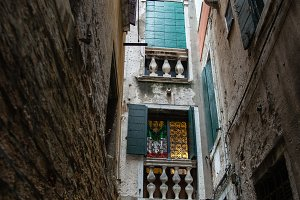 Looking up in Venice