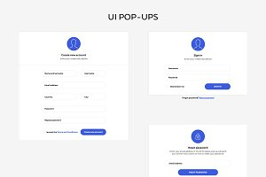 Web design UI set - login form