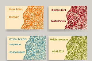 Vector business card template
