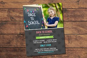 Back to School Mini Session Card