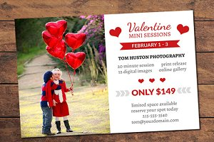 Valentine Mini Session Card