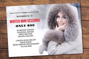 Winter Mini Session Card