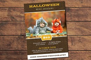 Halloween Mini Session Card