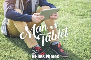 Man with Tablet - 24 PHOTOS