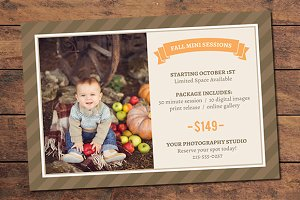 Fall Mini Session Card