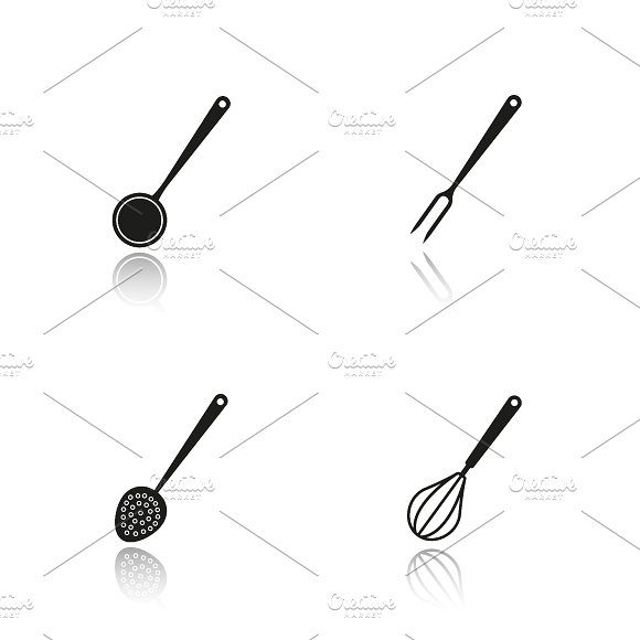 Cooking instruments icons. Vector - Icons