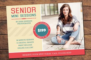 Senior Mini Session Card