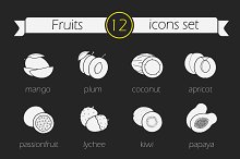 Fruits icons. Vector