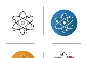 Atom icon. Vector