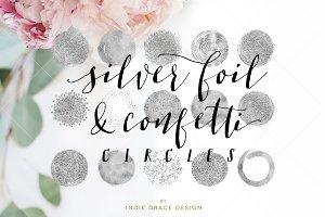 Silver Foil Confetti Glitter Circles