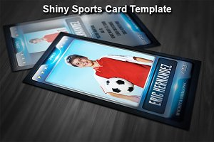 Shiny Sports Card Template