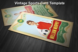Vintage Sports Card Template