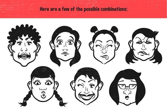 Cartoon Face Maker 2 Illustrations Creative Market