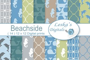 Beach Days - Digital Paper Patterns