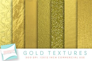 Gold Textured Digital Papers