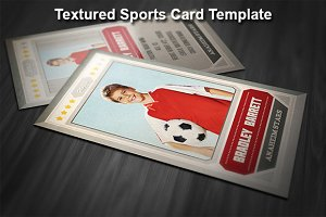 Textured Sports Card Template