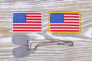 USA Flag Patches and ID Tags