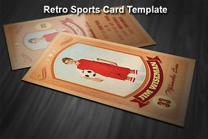 Retro Sports Card Template