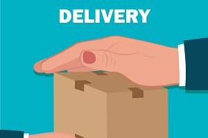 delivery service, flat design