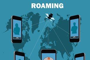 roaming concept, vector