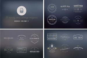 39 Trendy Retro Vintage Insignias