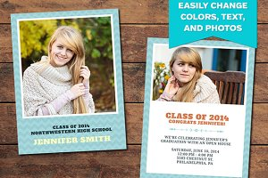 Chevron Graduation Announcement