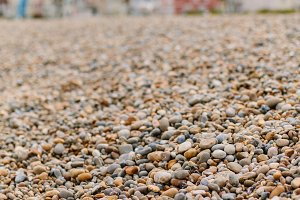 Pebble beach at Southwold, UK