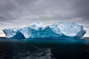 Antarctic iceberg in ocean