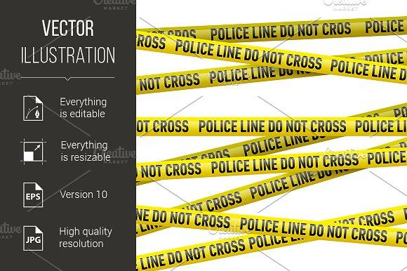 police danger tape graphics creative market