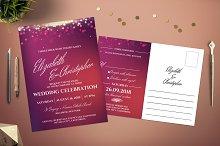 Celebration Lights Wedding Invite