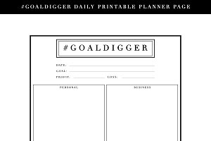 Printable Daily Planner Page