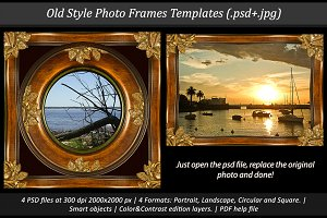 Old Style Photo Frames Templates
