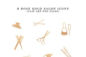 Rose Gold Salon Icons