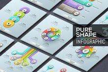 Pure Shape Infographic. Set 4