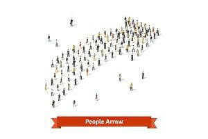People arrow