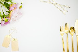 Bridal shower flat lay