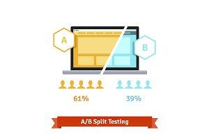 A/B split testing