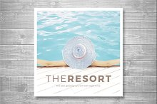 The Resort Trifold Square Brochure