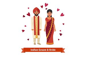 Indian wedding, bride and groom