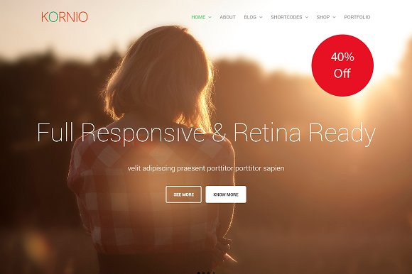 Kornio Multipurpose WordPress Theme