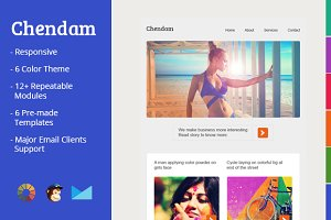 Chendam - responsive email templates