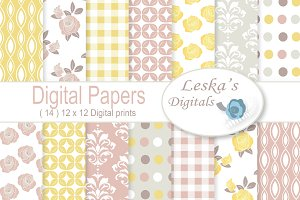 Floral Digital Paper - Roses