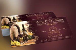 Vintage Wine Art Mixer Flyer