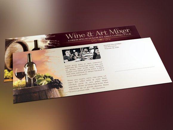Vintage Wine Art Mixer Flyer Flyer Templates Creative Market