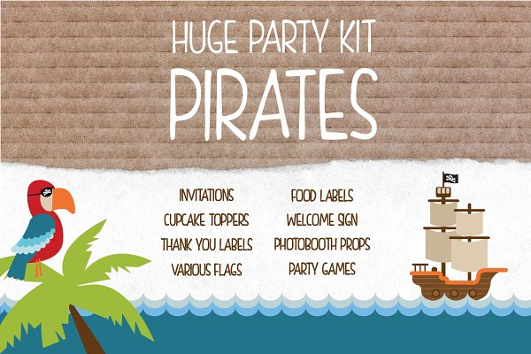 Pirate Party - HUGE Birthday Kit