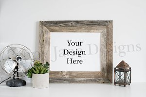 Frame Mockup Stock Photo