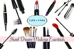 Hand Drawn Makeup Essentials