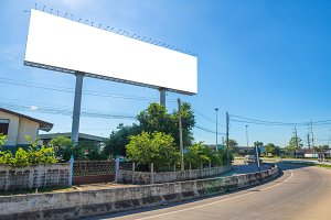 Blank billboard for advertisement.