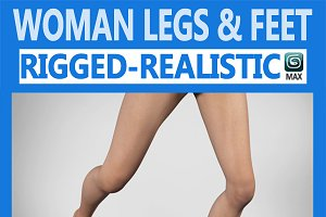 Female Legs Rigged